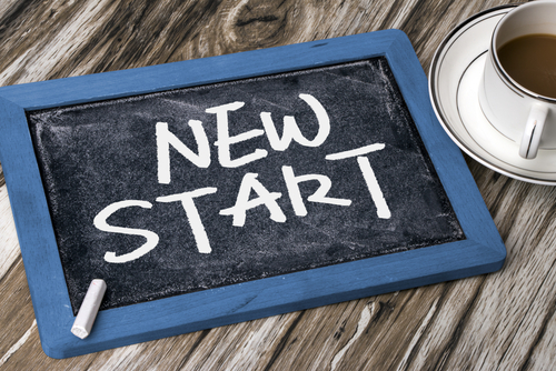 "Chalk Board ""New Start"""