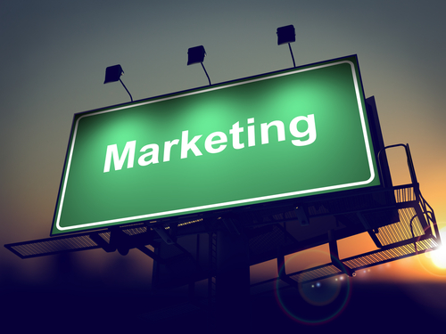 green marketing billboard