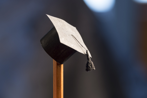 Graduation hat on pencil