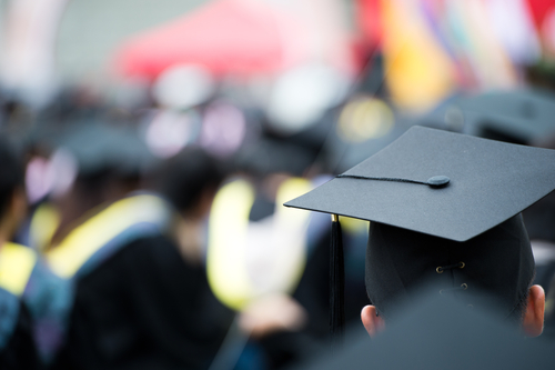 graduation scene