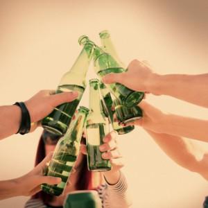 Cheers with plenty of beers.
