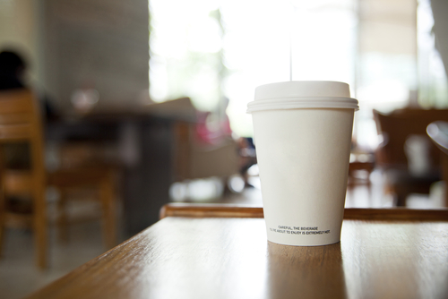 Coffee on a desk